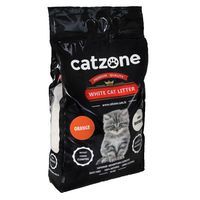 Άμμος γάτας Catzone Clumping -Με άρωμα Πορτοκάλι 10Kg