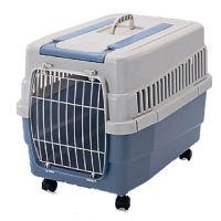 Μεταφοράς σκύλου KIM 60 με χερούλι και ρόδες χρώματος μπλε (Διαστάσεις: 60 x 40 x 43.5 cm)