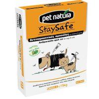 Φυτικές Αντιπαρασιτικές Αμπούλες Pet Natura για σκύλους και για γάτες κάτω των 15kg