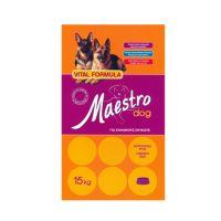 Maestro Adult Chicken & Rice Νιτσιάκος 15kg+ ΔΩΡΟ Alpha Spirit Half Ham Bone 140gr