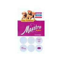 Maestro Puppy Chicken & Rice Νιτσιάκος 15kg + ΔΩΡΟ Alpha Spirit Half Ham Bone 140gr