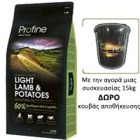 Profine Light Lamb & Potatoes 15Kg + ΔΩΡΟ Κουβάς αποθήκευσης