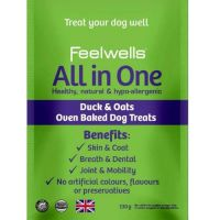 Feelwells All in One Duck & Oats Oven Baked Λιχουδιές σκύλου 130gr