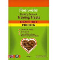 Feelwells Training Treats Chicken Λιχουδιές σκύλου 115gr