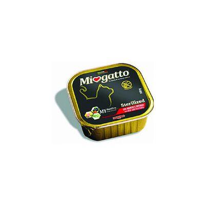 Δισκάκι MIOGATTO Adult Sterilized beef 100gr (Συσκ 5τμχ)
