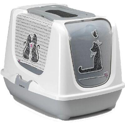 Κλειστή τουαλέτα γάτας - Cats in Love (Διαστάσεις: 50cm x 39.5cm x 37.5cm)