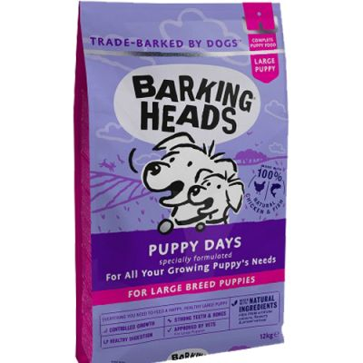 Barking Heads Puppy Days Large Breeds 12kg + ΔΩΡΟ Λάδι σολoμού 100ml